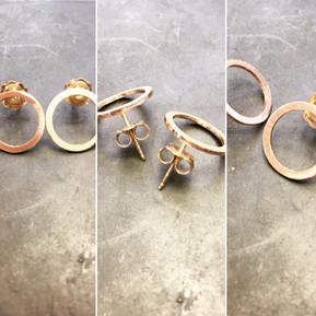 Medium Rose Gold Circle earrings