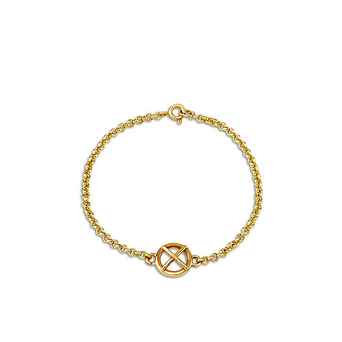 Large 9ct yellow gold Kiss Hug bracelet x1