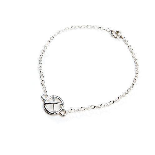 Large silver Kiss Hug bracelet x1