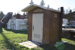 Single Occupant Concrete Outhouse