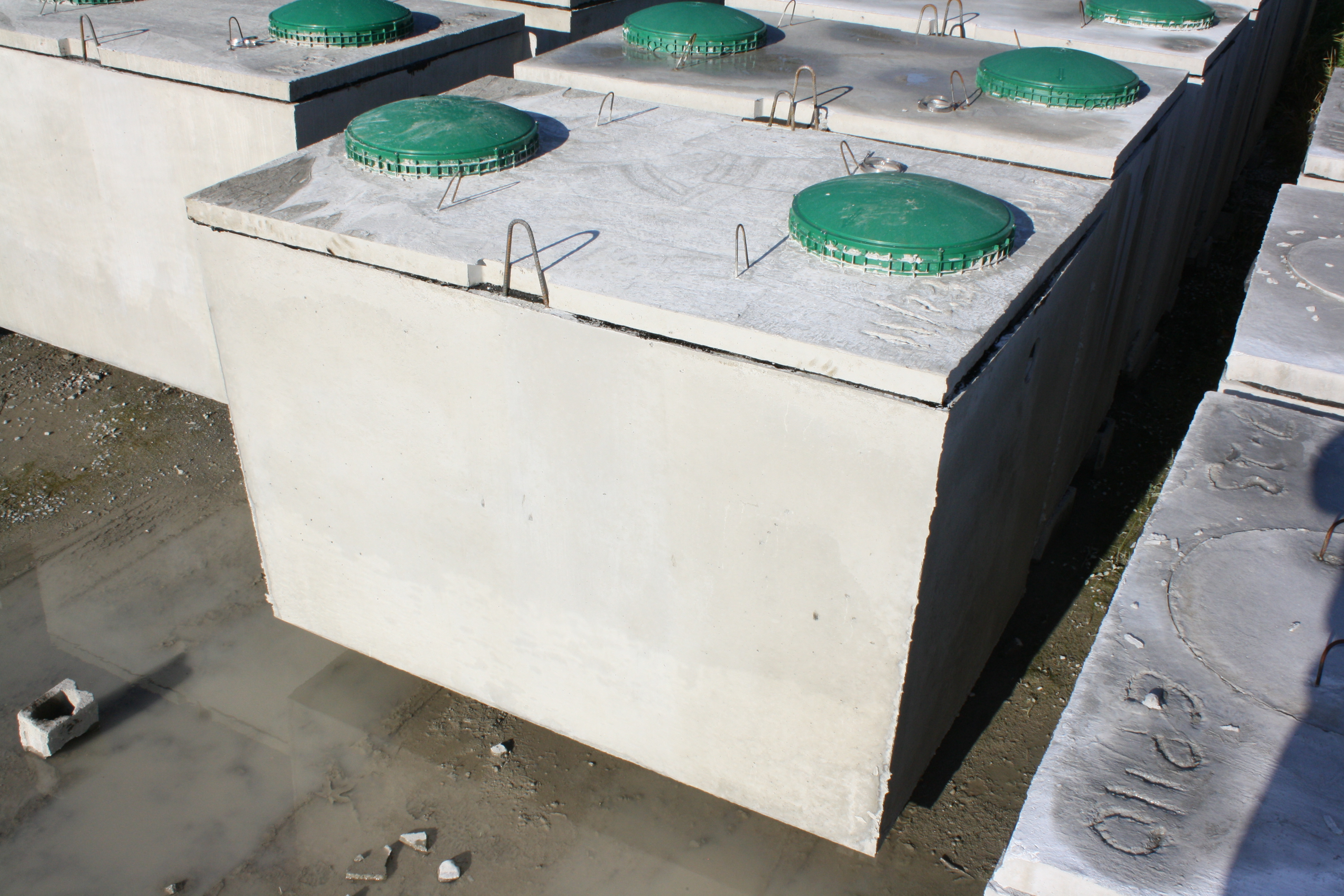 Two Compartment septic with risers