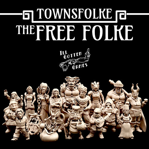 TOWNSFOLKE - FREE FOLK SET
