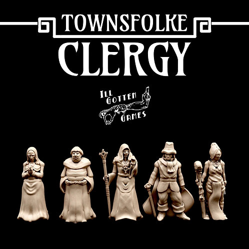 TOWNSFOLKE - CLERGY SET OF 5