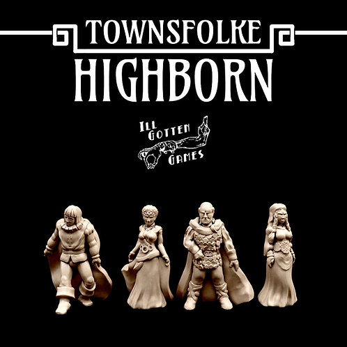 TOWNSFOLKE - HIGHBORN SET OF 4