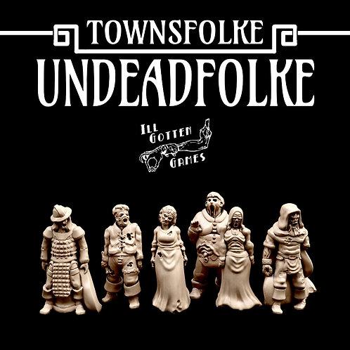TOWNSFOLKE -UNDEAD FOLKE SET OF 6
