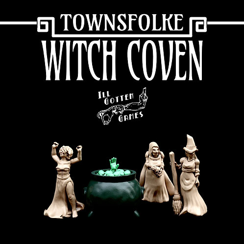TOWNSFOLKE - WITCH COVEN SET OF 3