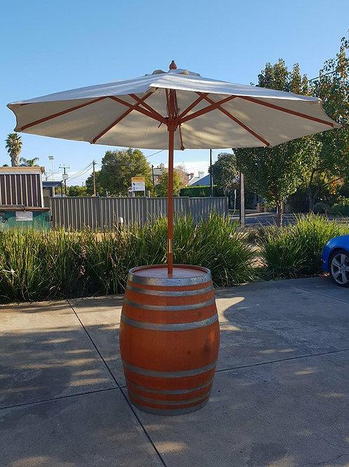 Terracotta Barrel with Umbrella
