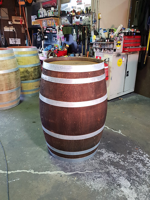 Walnut Barrel with Umbrella