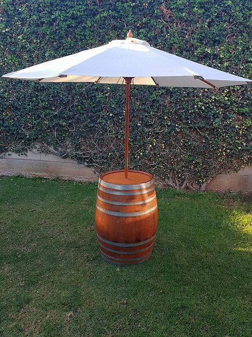 Golden Barrel with Umbrella