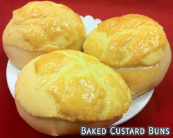 Baked Sweet Custard Buns