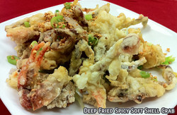 Deep Fried Spicy Soft Shell Crabs