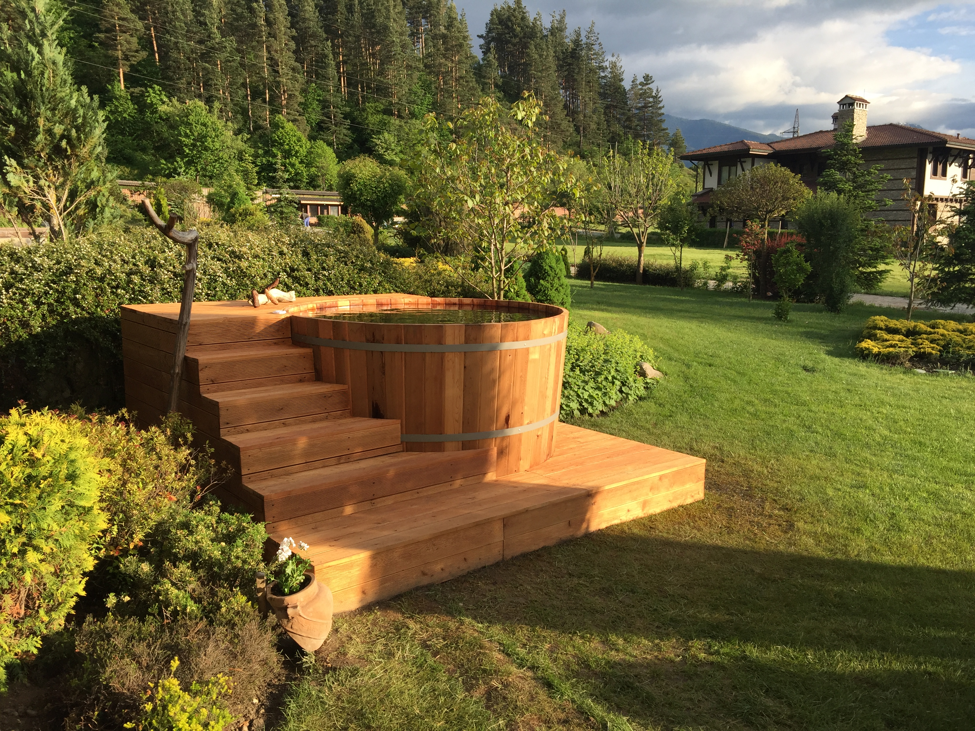 Hot tub and garden