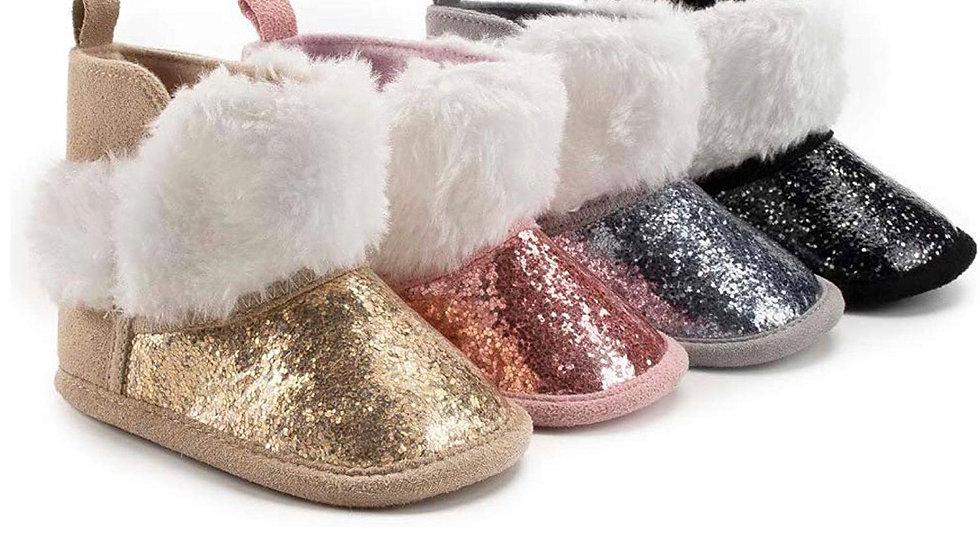 Kairi's Glitter Newborn Booties