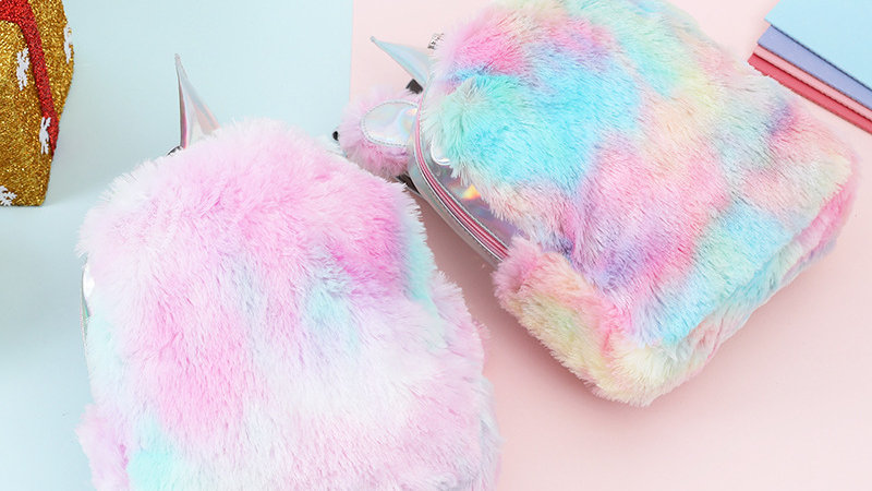 Fuzzy Unicorn Backpacks