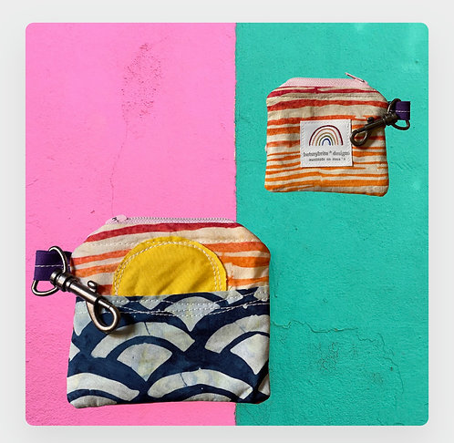 I'll Fly Away Collection: The Mini-Zipper Keychain Pouch