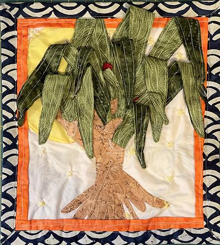 Lauhala Tree Mini Quilt Wall Hanging