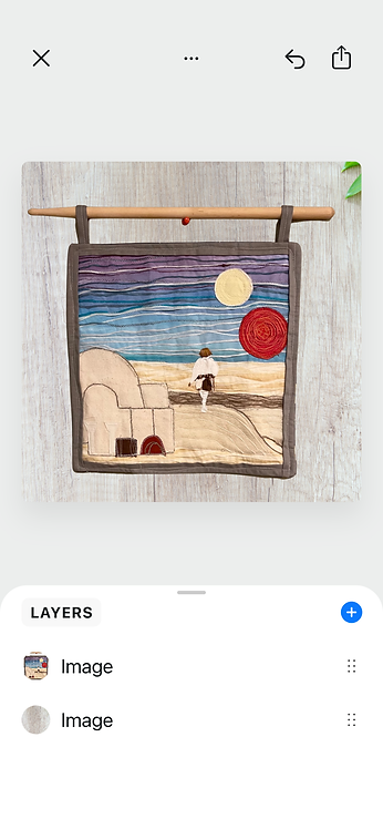 A New Hope Textile Art Wall Hanging: Luke