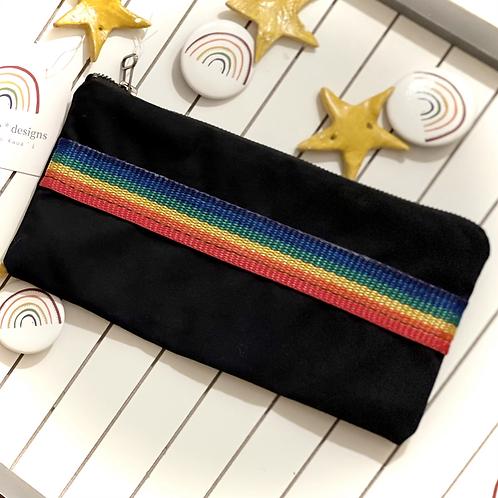 Brite Rainbow Zipper Pouch
