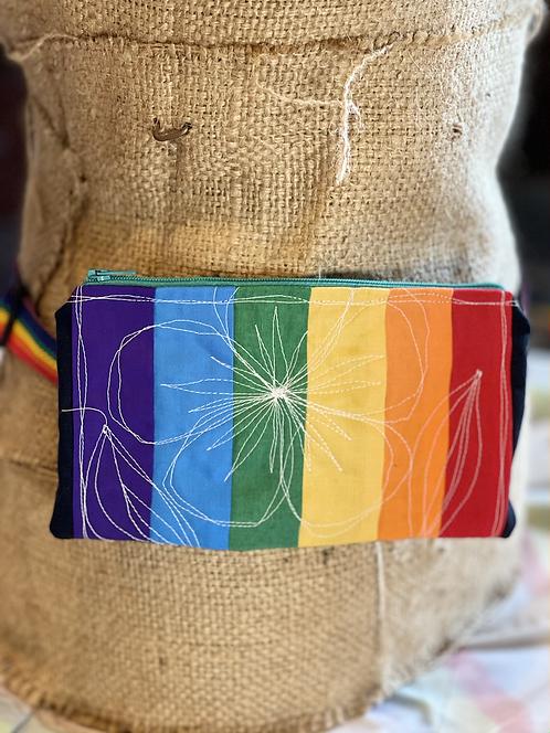 Brite Rainbow Floral Hip Bag