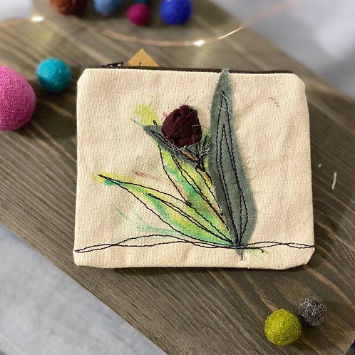 Budding Bloom Canvas Mini-Pouch