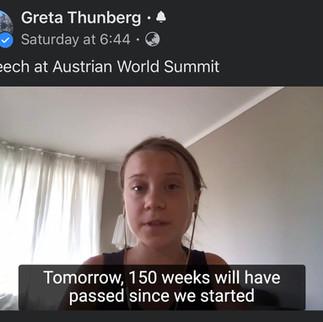 Greta Thunberg after 150 weeks