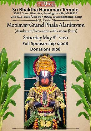 Moolavar Grand Phala Alankaram - Partial Sponsorship