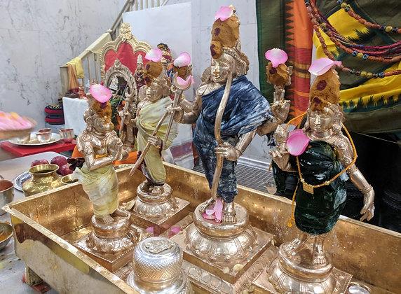 Abhishekam (Utsavar) - (only on scheduled days)