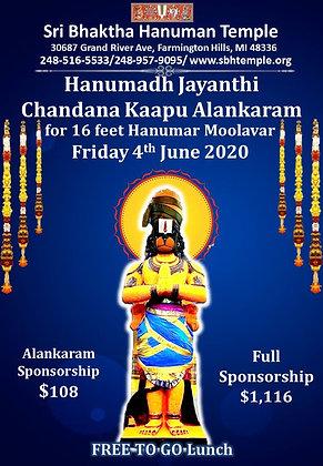 Hanumadh Jayanthi Chandana Kaapu Alankaram