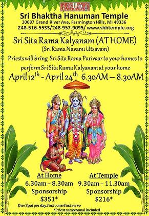 Sri Sita Rama Kalyanam (AT HOME) Sponsorship