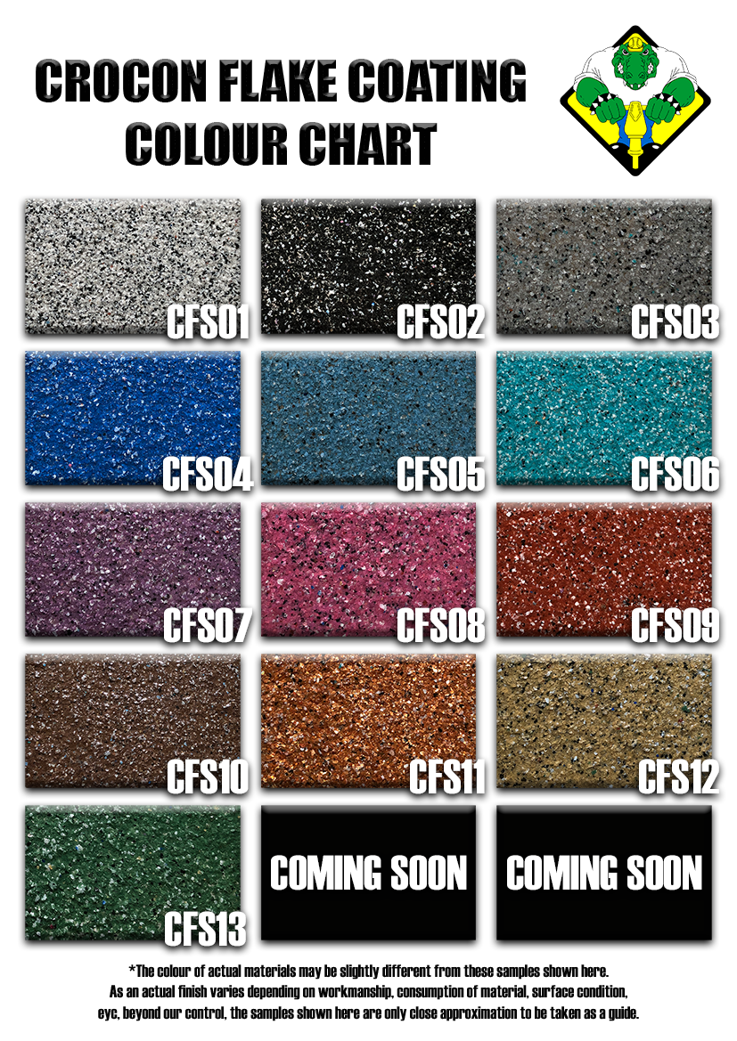 Crocon Flake System Colour Chart 2808201