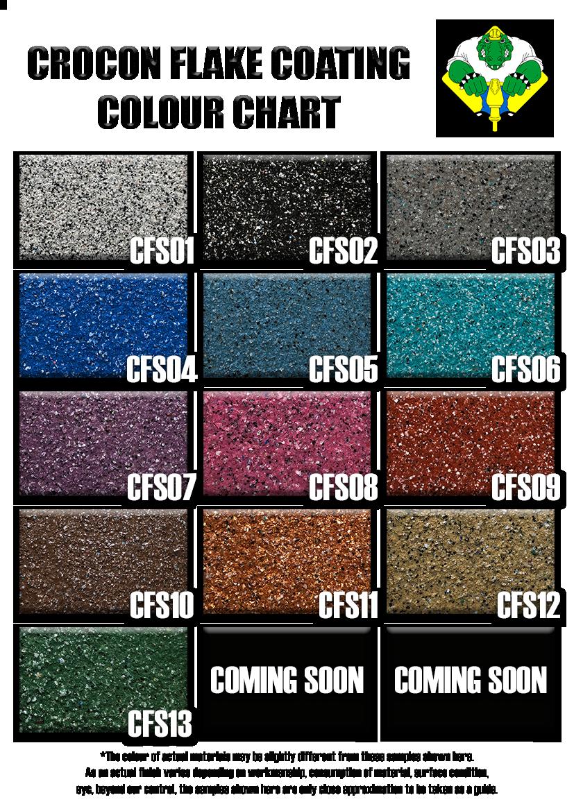Crocon Flake System Colour Chart 2808201