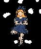 Alice Posing Blonde Blue