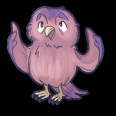 Teri Owl Animated Purple