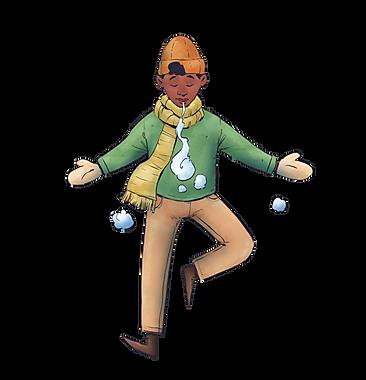 Green Yellow Orange Animated Young Man