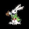 White Rabbit Animated Green Jacket Clock
