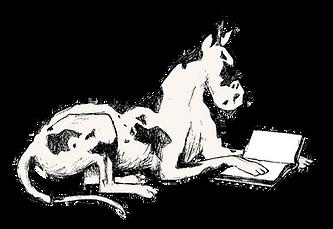 Mozi Reading Animated Great Dane Black White
