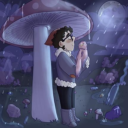 owl hobbit rain under the moon .png