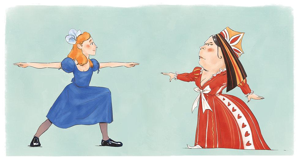Alice Red Queen Yoga  Wonderland Mindfulness