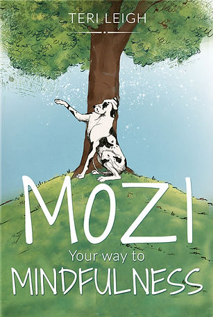 Mozi Your Way To Mindfulness Book Cover Teri Leigh Great Dane Tree Animated