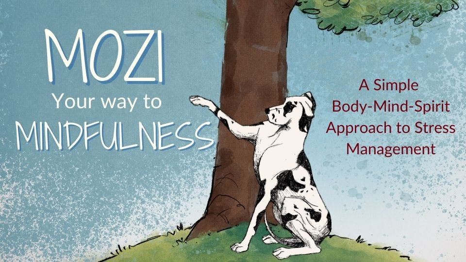 Mozi Great DAne Black White Mindfulness Banner