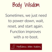 Body Wisdom: Illness is an Energetic Reset