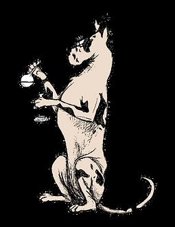 Mozi Animated Great Dane Sitting Science