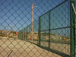 PVC Coated Galvanised Chainlink Fence and Gat