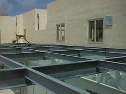 Steel Beams Installation - St Francis School Msida