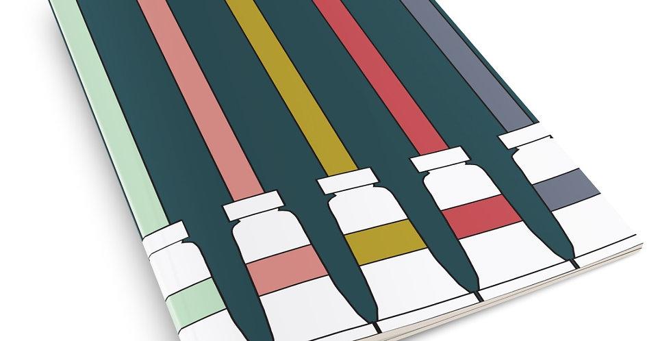 Paint Tubes A5 Notebook