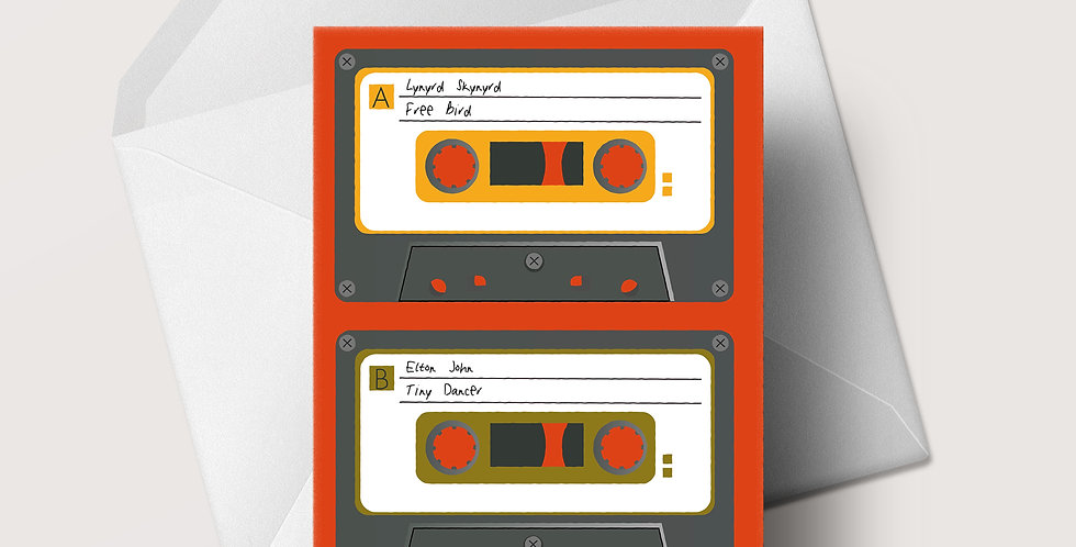 1970s Cassette A5 greeting card