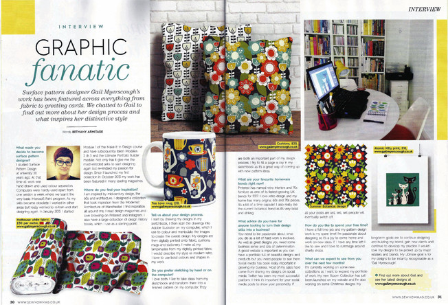Sew Now magazine Gail Myerscough