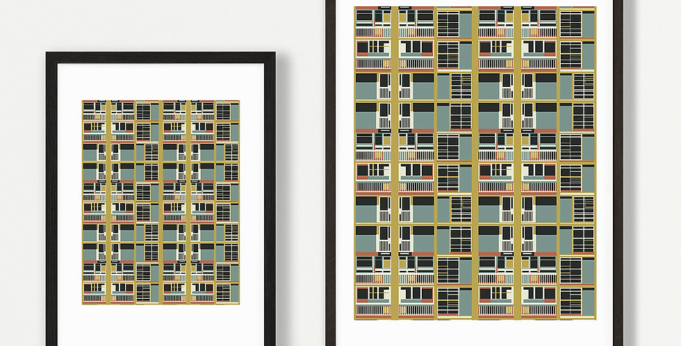 Park Hill unframed print - wholesale