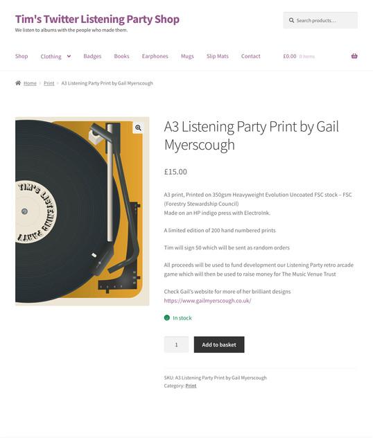 Listening Party website