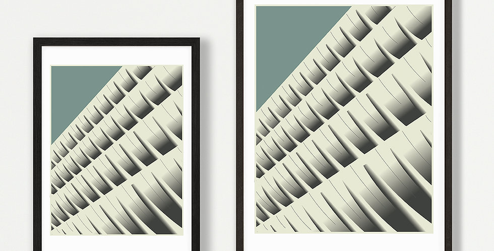 Preston Bus Station unframed print